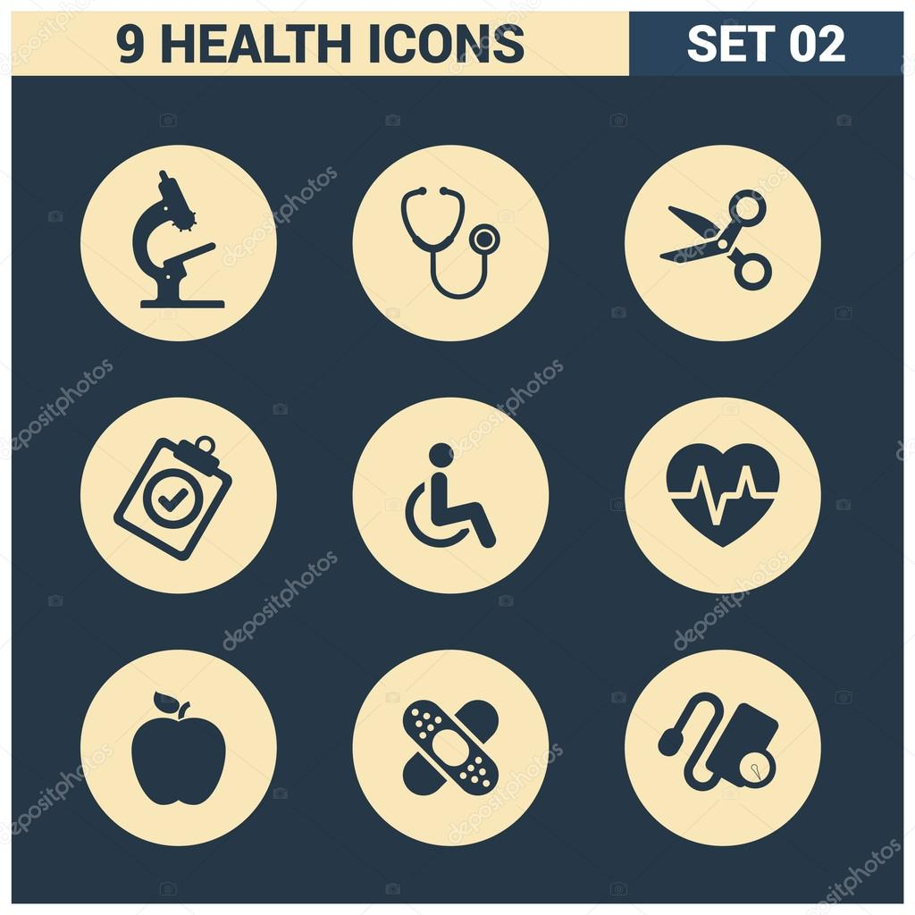 Abstract collection Medical icons set.