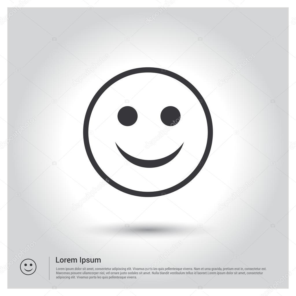 Ic ne smiley visage heureux image vectorielle ibrandify - Smiley en noir et blanc ...