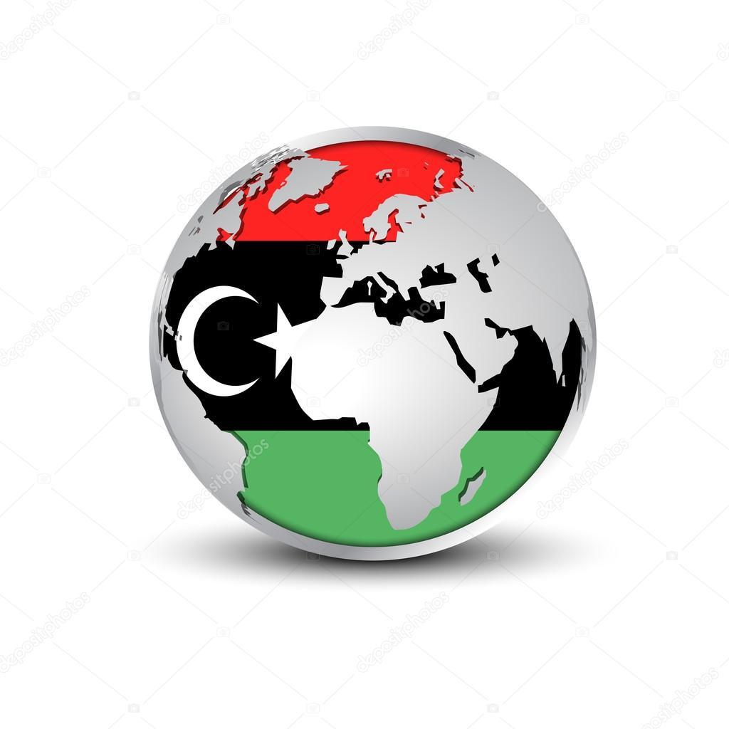 Weltkugel mit Türkei Flagge Farben — Stockvektor © ibrandify #93847036