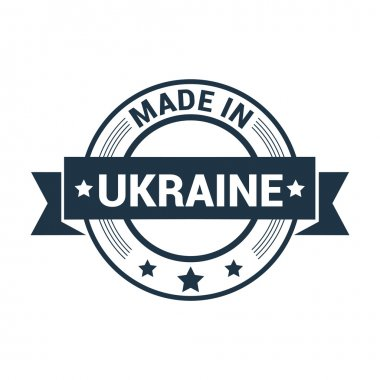 Made in Ukraine - Round rubber stamp