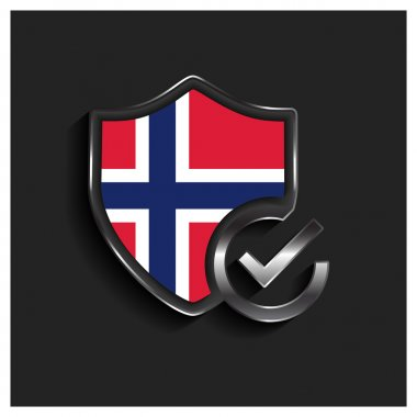 ok security shield Norway flag