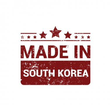Made in South Korea stamp