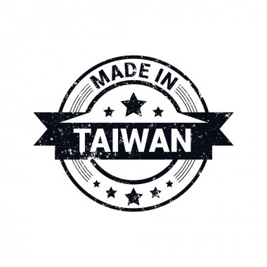 Round stamp made in Taiwan.