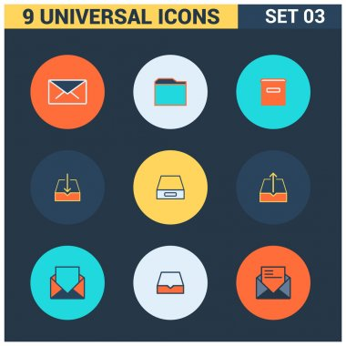 Collection of flat Universal Icons