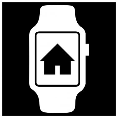 Go to home icon on smart watch.