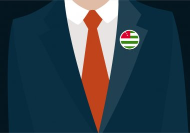 Businessman In Suit Wearing Sudan Badge