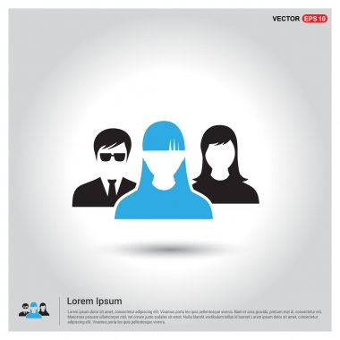 Business User Icon. Users Group Icon