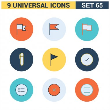 Abstract collection flat Universal Icon set.
