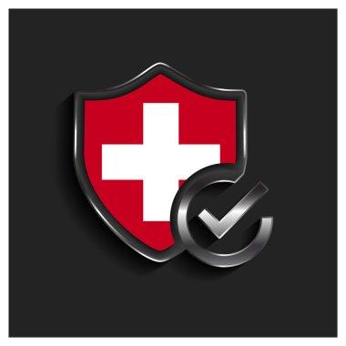 Switzerland flag shield