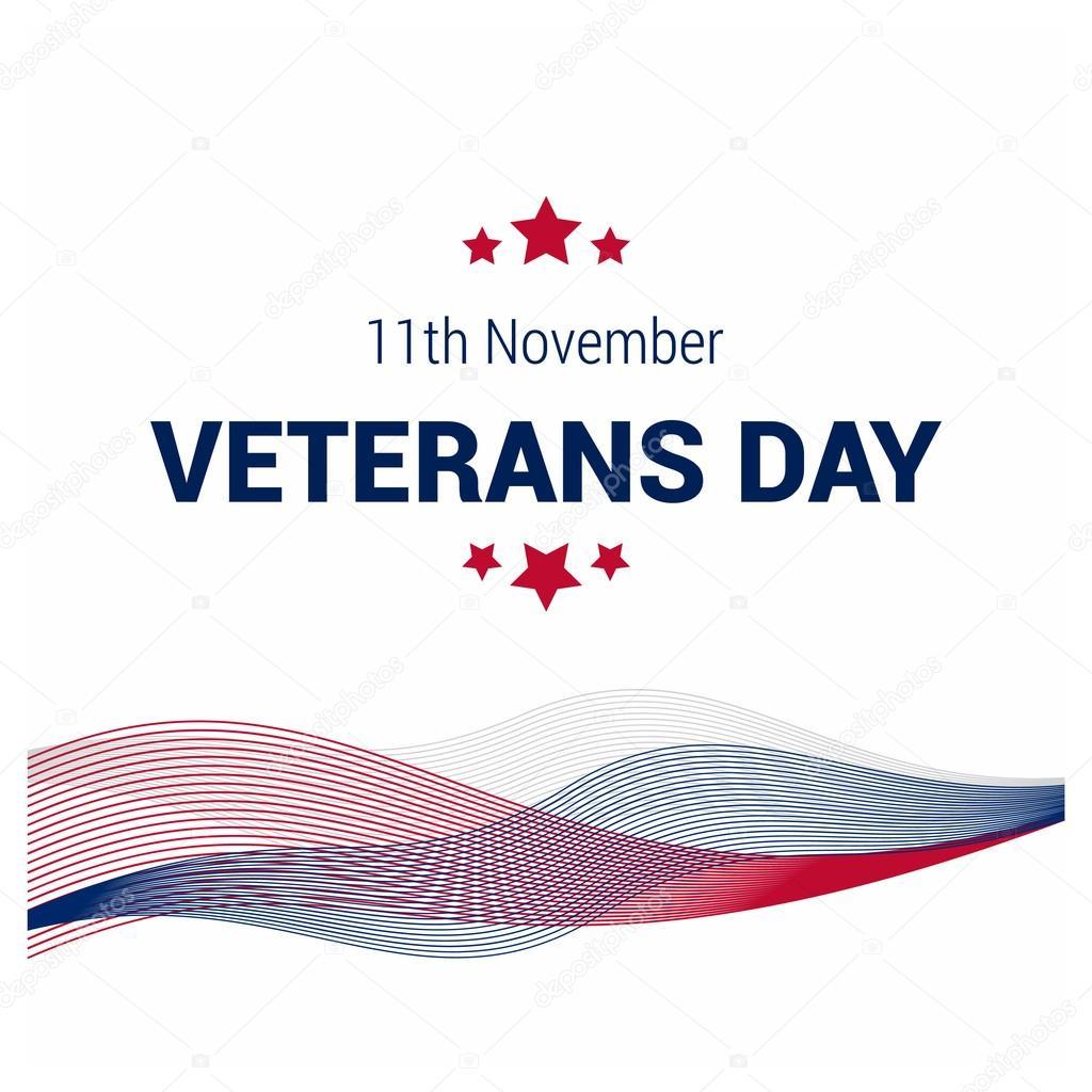 Veterans Day, USA flag