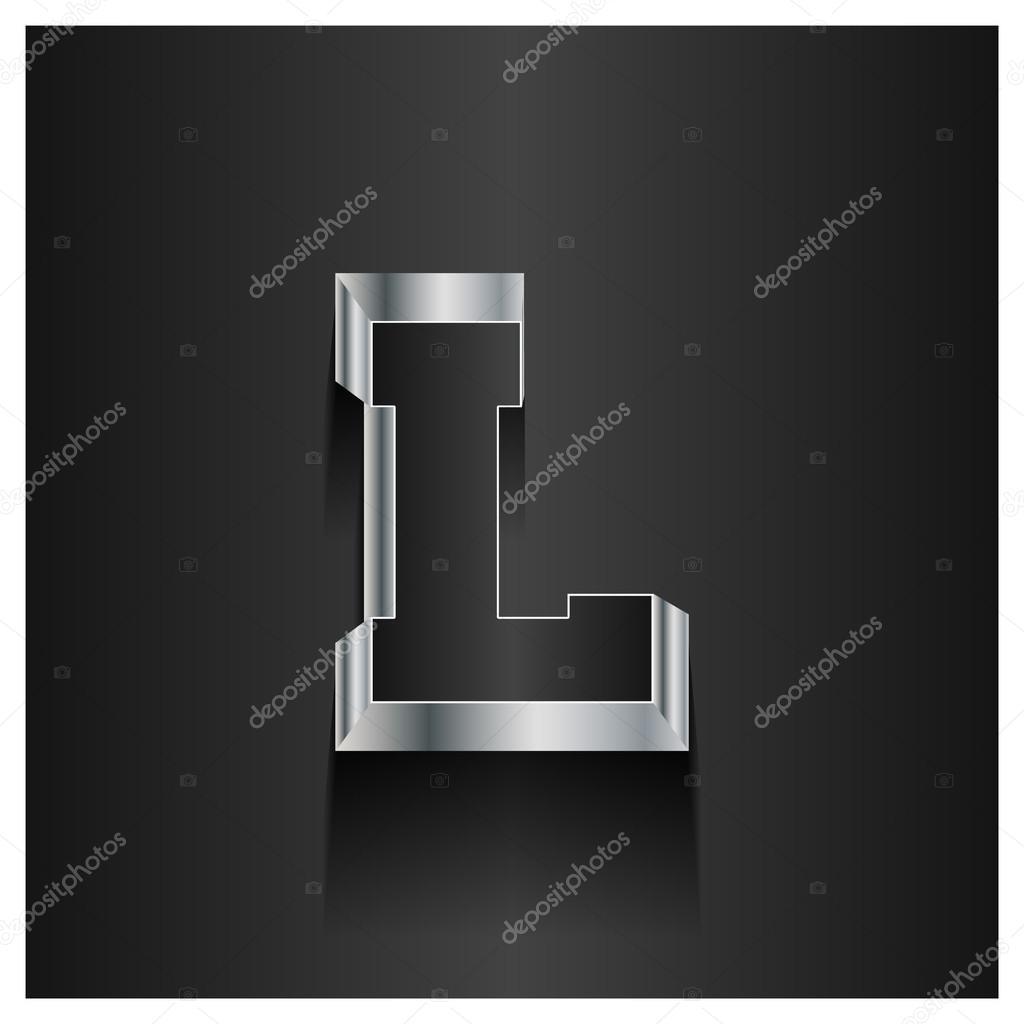 letter l logo alphabet 3d logotype stock vector c ibrandify 93971066 https depositphotos com 93971066 stock illustration letter l logo alphabet 3d html