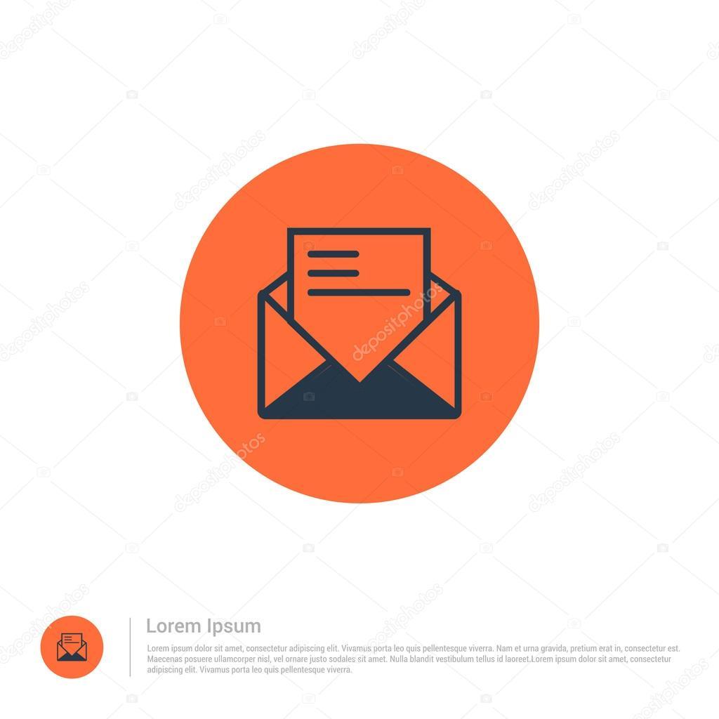 Icono de la plantilla de correo electrónico — Vector de stock ...