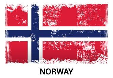 Norway grunge flag