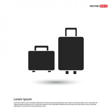 travel suitcases icon