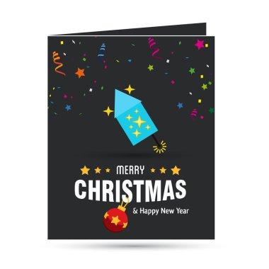 Christmas fire cracker icon.