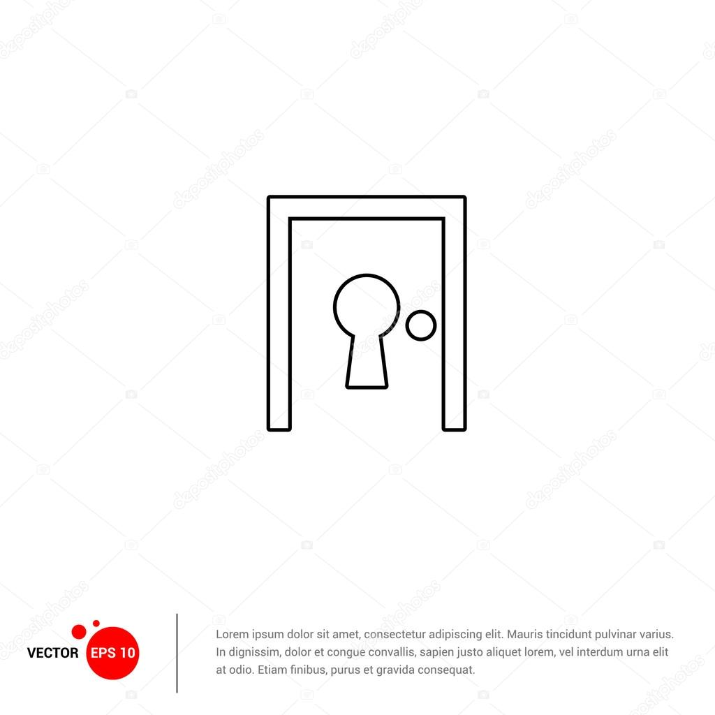 House door with keyhole icon stock vector ibrandify 95905392 house door with keyhole icon stock vector ccuart Images
