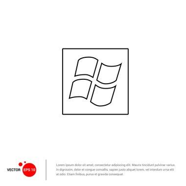 windows operation environment icon