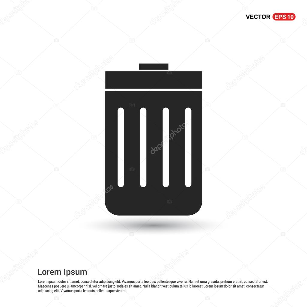 trash icon logo type icon � stock vector 169 ibrandify
