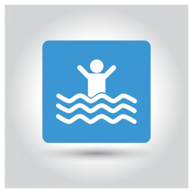 children swimming pool icon
