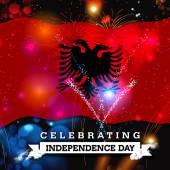 Den nezávislosti karta s vlajkou