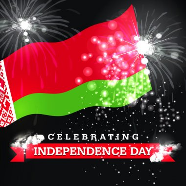 Independence Day card with flag