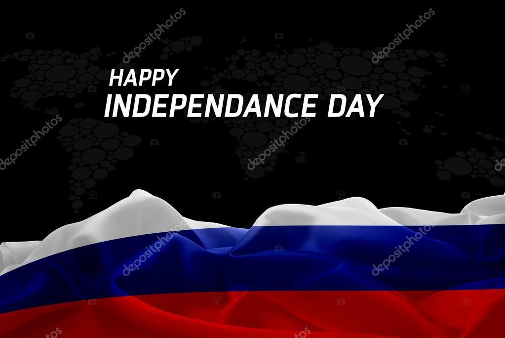 Russia Independence Day card
