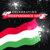 Photo Celebrating Independence Day card with flag