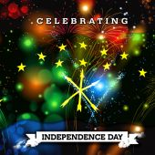 Photo Independence Day card with flag