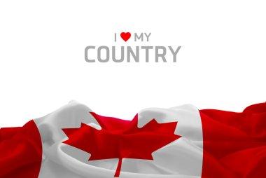 Canadian flag and inscription