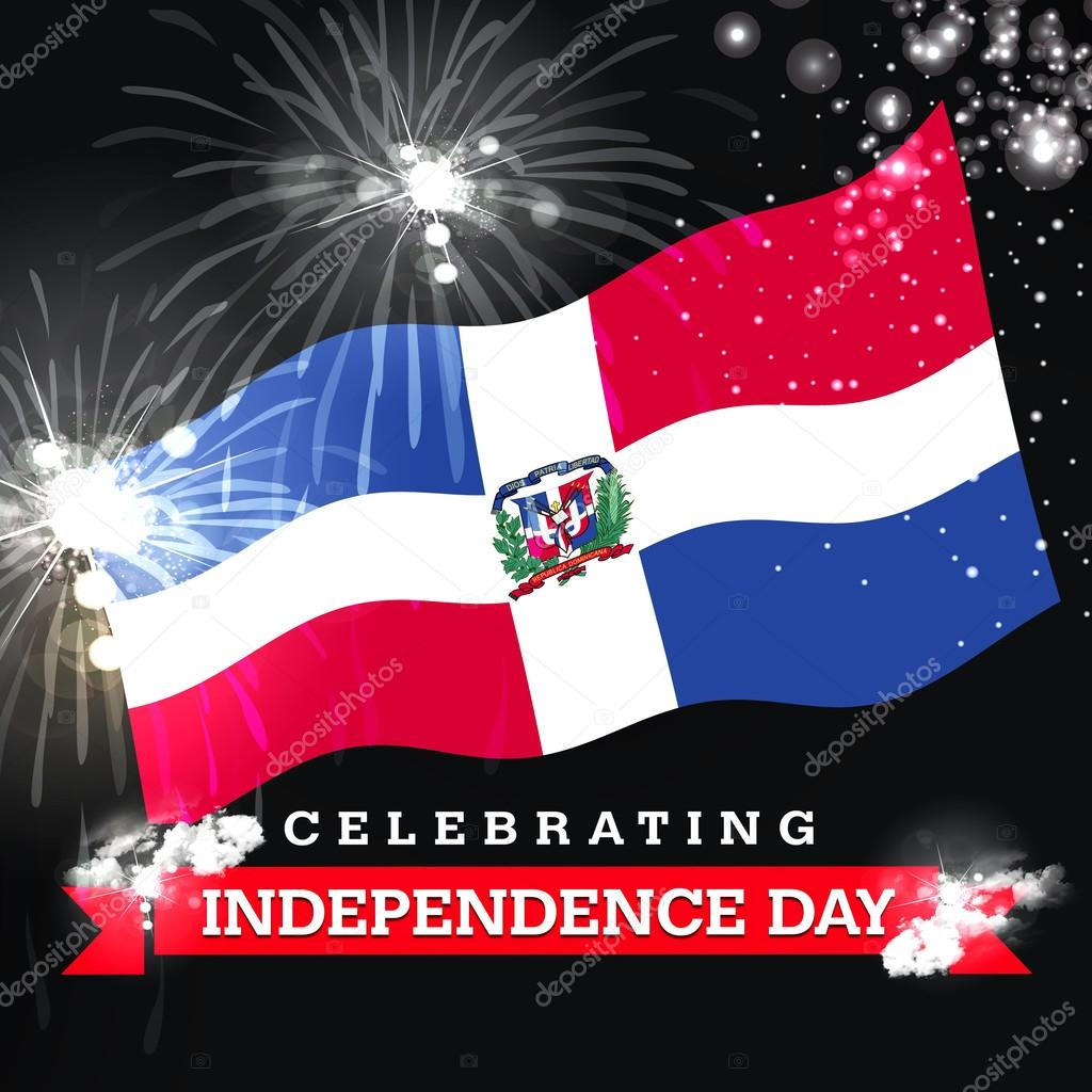 Dominican Republic Independence Day Card Stock Photo Ibrandify - Dominican republic independence day