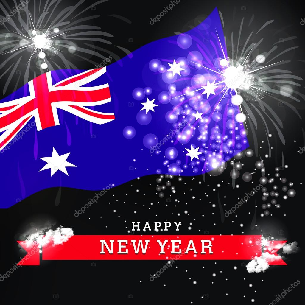 happy new year card with australia flag concept photo by ibrandify