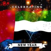Šťastný nový rok karta s vlajkou