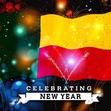 Benin new year card