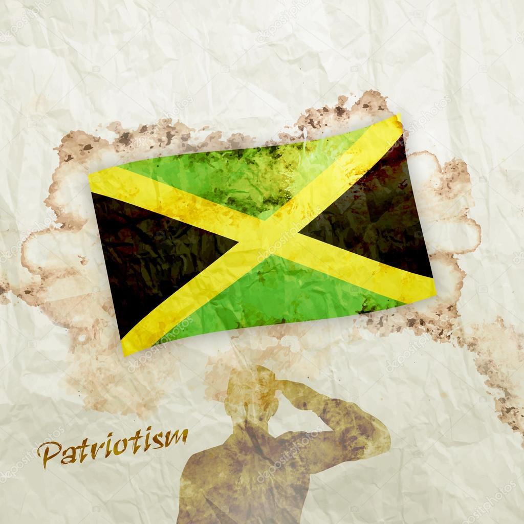 Jamaika-Markierungsfahne — Stockfoto © ibrandify #97225146