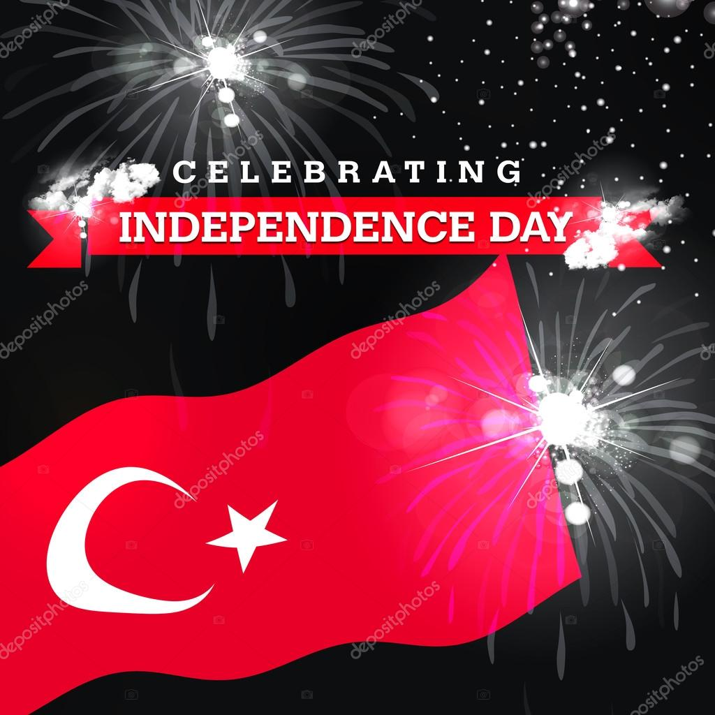 Independence day fireworks and turkey flag stock photo ibrandify independence day fireworks and turkey flag stock photo m4hsunfo