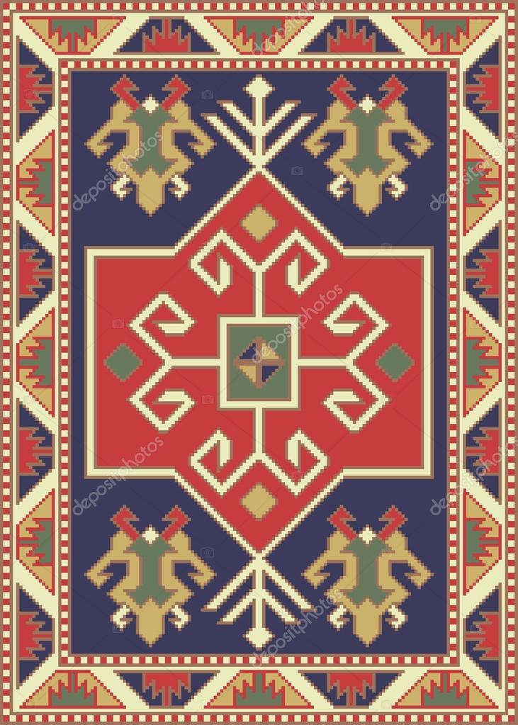 Armenian Carpets And Rugs U2014 Stock Vector #94101346