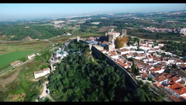 Vista panoramica aerea di Obidos Portogallo