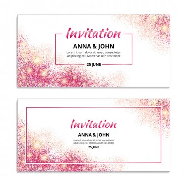 Pink wedding invitation 1