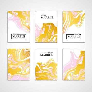 Marble gold texture card background black