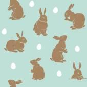 Kaninchenmuster osterblau
