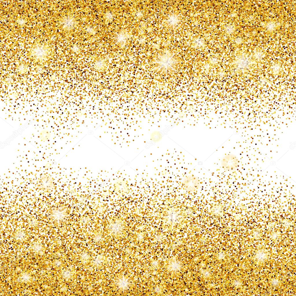 Gold glitter background sparkles — Stock Vector © PirinaIrina  123582810 c79f46ba02ad
