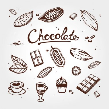 Chocolate cacao elements