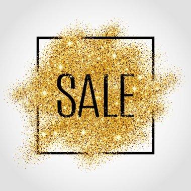 Gold sale background in frame