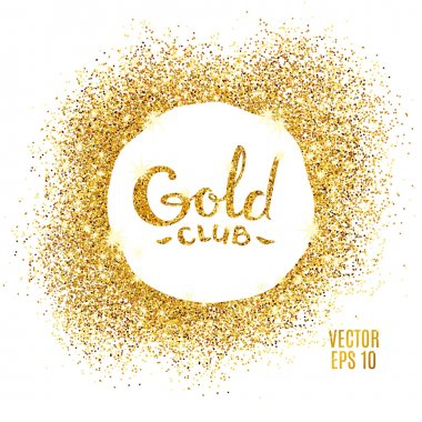 Gold club glitter background