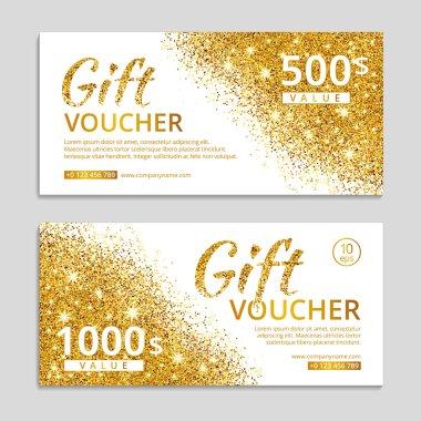Gold voucher glitter background