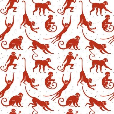 Monkey silhouette pattern