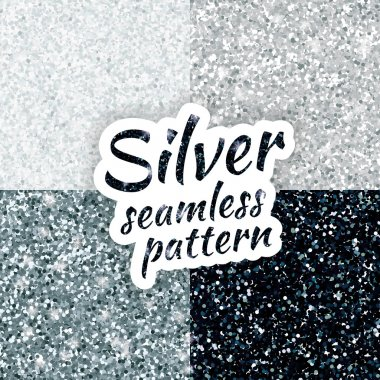 Silver sparkles glitter background