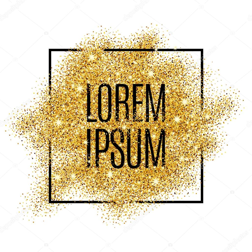 Gold blur background glitter