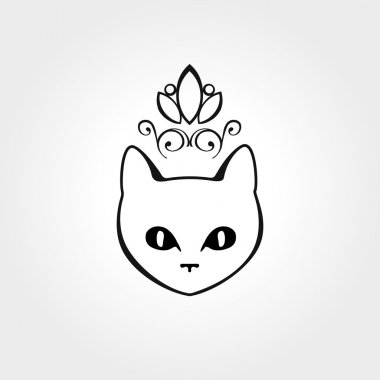 Cat puss eye logo