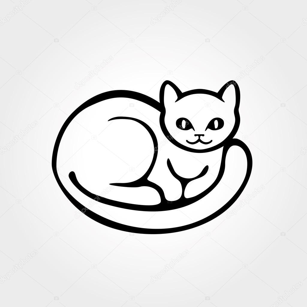 Silueta De Gatos Para Colorear Cola De Sueño De Silueta De Gato